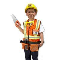 Buy cheap Melissa & Doug Construction Worker Role Play Costume Dress-Up Set (6 pcs) from wholesalers