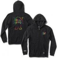 Grizzly X Fourstar Tie-Dye Pirate Zip Hoodie, Black Manufactures