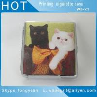 China Colourful Cigarette Case Leather Metal Box Holder Cases Tobacco Pouch on sale