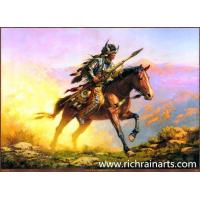 China General On Horse Animal Oil Painting on sale