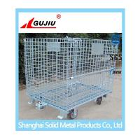 China Wire Mesh Container With Caster on sale