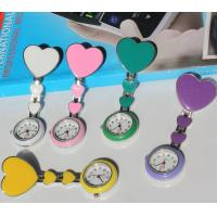 Buy cheap Candy Color Tripple Hearts Nurse Clip Watch Medical Pocket Clasp Watch NS1028 from wholesalers
