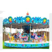 Quality New design children amusement park equipment christmas carousel decoration with great price for sale
