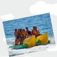 China New style inflatable double tube small banana fishing boat for sale on sale