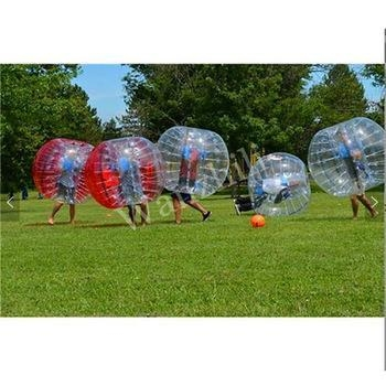 Quality personalized bouncy balls with handle bubble soccer ball inflatable for sale