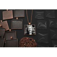 Makes 10 Copper Square Photo Jewelry Pendants 1 1/4 inch Kit Manufactures