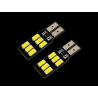 LED Car Lights (18) 2 X T10 White / Blue 5630 SMD 6LED W5W Super Bright Panel Wedge Side Light Bulb Manufactures