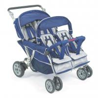 Quality Bye Bye Stroller - 4 Seat (Incl. FREE Raincover), Quad Buggy, Pram for Four Babies for sale