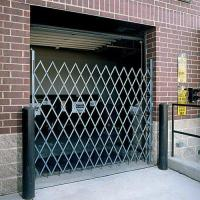WIREWAY/HUSKY Folding Steel Pivoting Single Security Gates for Wide Doorways  Gray Manufactures