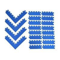 eWonderWorld Edging Package Set: 16 Sides & 4 Pairs of Corners for 6′ x 6′ Area (BLUE) Manufactures
