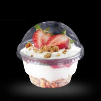Buy cheap 8oz plastic disposable ice cream cup with lid from wholesalers