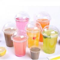 Buy cheap Custom printed transparent disposable plastic cup with lid from wholesalers