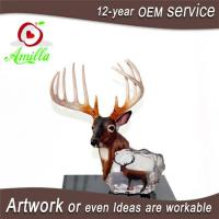 Large Antique Polyresin Deer Head Figurine for Home Office Shop Table Decoration Manufactures