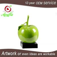 Resin Sculpture Single Apple Figurines for Home Room Table Display Manufactures