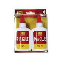 Quality 151 Products 4 X 151 Adhesives Pva Glue . Non Toxic. Paper . Card . Fabric . Art + Craft from 151 for sale