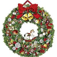 Quality Large Traditional Christmas Card Advent Calendar Deluxe - Christmassy Wreath by Coppenrath for sale