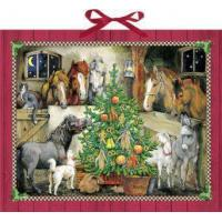 Quality Large Traditional Card Advent Calendar Deluxe - Horse Stables by Coppenrath for sale