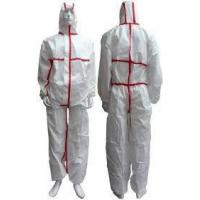 China Tear Resistant Clean Room Bunny SuitAnti - Shrink With Adhesive Sealed Tape on sale