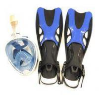 China Underwater Diving Equipment Scuba Diving Mask And Fins Safety Water Repellent on sale