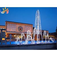 3D Motif Light Commercial Decor Artificial Lights Led Christmas Fountain Manufactures