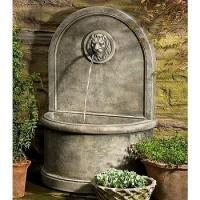 China Outdoor Wall Fountains Lion Cast Stone Wall Fountain on sale