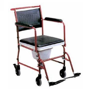 Quality Aluminium Adjustable Toilet Chair with Wheels for sale