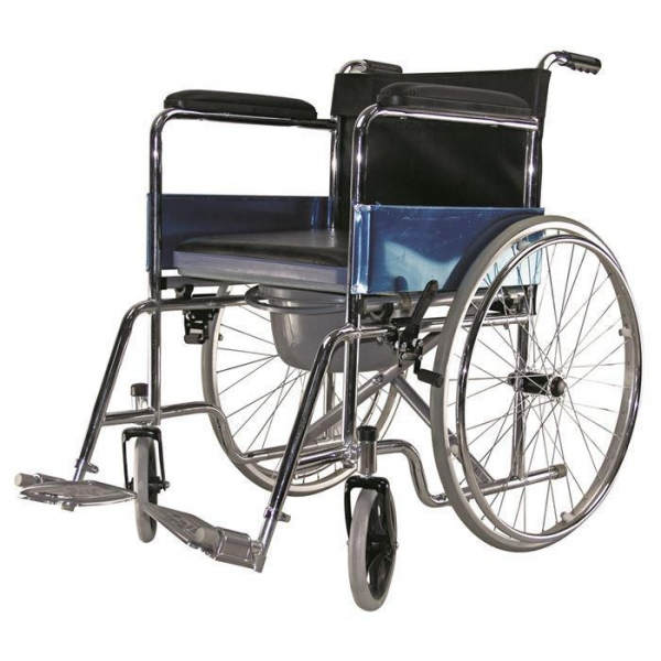 China Manual Lightweight Commode Wheelchair