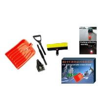 Buy cheap 4 in 1 Function ice scraper snow brush snow shovel set with reflective stripe from wholesalers