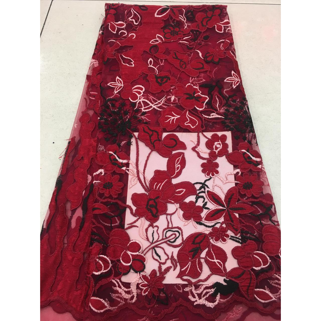 high quality mesh laser cut flower embroidery fabric-J0290 Manufactures