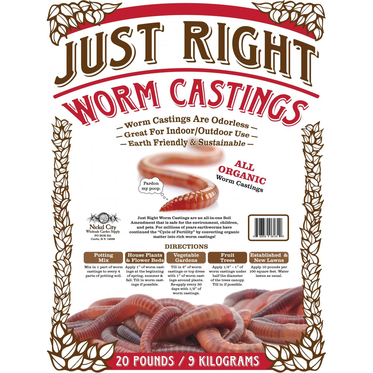 Just Right Vegan Organic Worm castings Manufactures