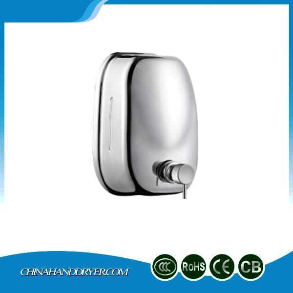 Quality Manual Type Brushed Nickel Soap Dispenser Wall Mounted With Big Capacity 1600ml for sale