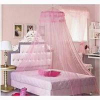 China Bed Utility Type Ceiling Hanging Round Royal Princess Bed Mosquito Nets Curtain on sale