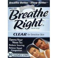 China Breathe Right Nasal Strips, Small/Medium, Clear, 30 Count on sale