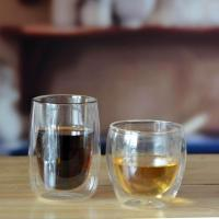 Drinking Glasses Double Wall Glass Coffee Cup Manufactures