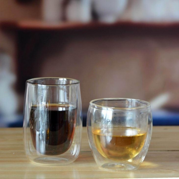 Quality Drinking Glasses Double Wall Glass Coffee Cup for sale