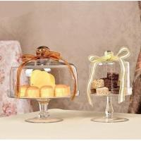 Hot Sale High Quality Glass Cake Stand With Dome Or Cover