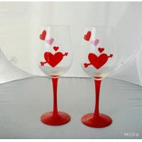 Buy cheap Drinking Glasses DX-01002 Handblown Decorative Wine Glass for Valentine's Day from wholesalers