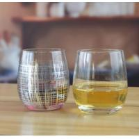 Buy cheap Drinking Glasses Hand Blown Silver Round Drinking Tumbler Glass from wholesalers