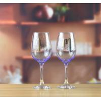 Buy cheap Drinking Glasses Purple Wine Glass With Color Print Logo from wholesalers