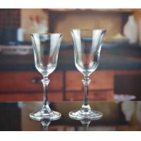 Drinking Glasses DX-11644 Handmade Vintage Crystal Pyramid Wine Glass Manufactures