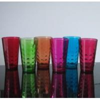 Drinking Glasses Machine Made 16 Oz Colored Pint Glass Cup With Embossed Pattern Manufactures