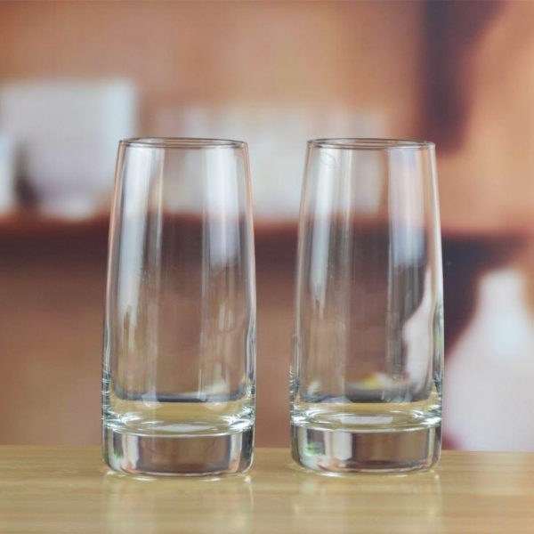 Quality Drinking Glasses Handblown Crystal Cylinder Clear Drinking Glass Cup for sale