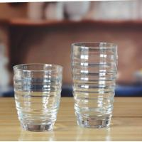 Drinking Glasses Machine Made Cheap Glass Tumblers Embossed Pattern for Water Manufactures