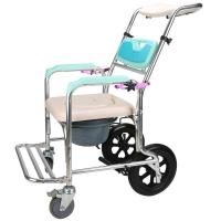 China walker 4598 Folding commode chair with Aluminum wheel and hard pad on sale