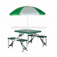 Portable Picnic Folding Table and Umbrella Combo Pack Camping table and chairs Manufactures