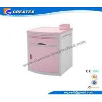 China Anti - rust Pink Medical / hospital bedside table with drawer for Nursing home on sale