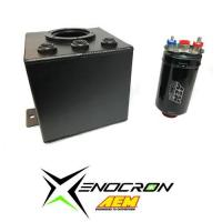 Quality Savings Packages Xenocron Single Surge Tank w/ AEM 380lph Fuel Pump Kit[SurgeAEMComb] for sale