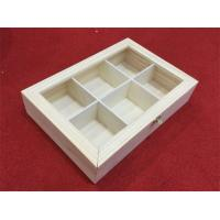 China Wooden Tea Bags Box with 6 Dividers on sale