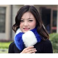 Female Collar Scarf Patchwork Thermal Neckerchief For Women