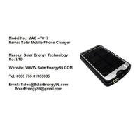 China Solar Mobile Phone Charger MAC-T017 on sale